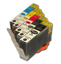 5X HP 920XL Reman Ink Cart.(2B+1C+1Y+1M) W/Chips FOR HP Officejet 6000,6500,7000