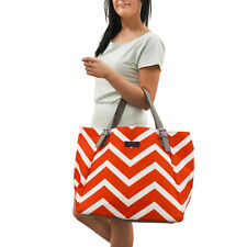 Red Chevron Large Tote