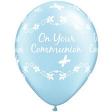 20x On Your Papillons De Communion Perle Bleu Clair Qualatex 27.9cm