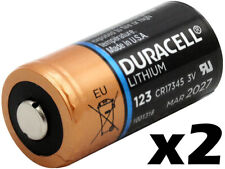2 TWO Duracell CR123A 3V CR123 DL123 Ultra Lithium Batteries NEW EXP 2027