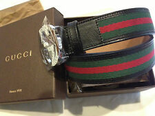 Gucci Belt Interlocking G Buckle Leather Size 36-38