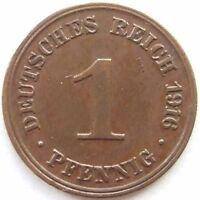 Top! 1 Pfennig 1916 J En Extremely fine