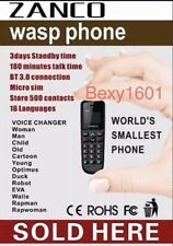 Zanco Wasp BEE ANT  New Stock 2020 Worlds Smallest Mobile phone