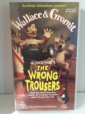 WALLACE & GROMIT ~ THE WRONG TROUSERS ~ AS NEW VHS VIDEO
