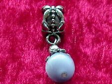 Anhänger Dangle Antik Silber Katzenauge Weiß Dangle Beads