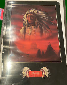 Red Cloud American Indian Poster