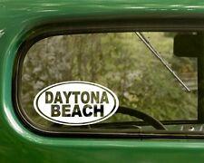 Daytona Beach Decal Sticker Florida 2 Oval, Bumper, Cars, Travel Mug, Laptop