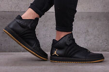 NIKE JORDAN 1 FLIGHT 4 PREMIUM Trainers Shoes Mid Leather - UK 10 (EUR 45) Black