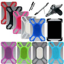 """For Various 7"""" 8 Tablet Universal Silicone Soft Back Stand Shockproof Cover Case"""