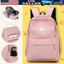 US Women Girl Nylon Backpack School Shoulder Laptop Rucksack Travel Bag Handbag