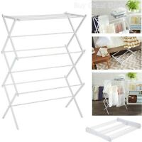 Clothes Drying Rack Laundry Folding Hanger Dryer Indoor Foldable Household WHITE