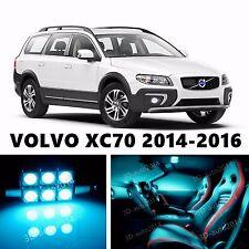 10pcs LED ICE Blue Light Interior Package Kit for VOLVO XC70 2014-2016