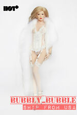 1/6 Sexy Faux Fur Wrap Shawl Cape For PHICEN HotToys Female Figure SHIP FROM USA