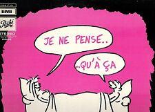 MFD IN CANADA 1969 STAGE & SCREEN LP GEORGES WOLINSKI : JE NE PENSE QU'A CA