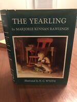 THE YEARLING by Marjorie Kinnan Rawlings Illustrations N.C. Wyeth HC DJ 1967