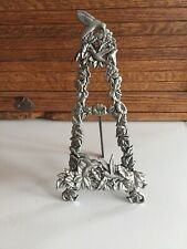 Metal Hummingbird Plate Holder / Easel Stand