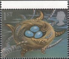 GB 1991 Greetings/Good Luck/Nest/Eggs/Birds/Nature/Fortune 1v (n30824a)