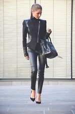 Size XS - $400 ZARA REAL LEATHER BIKER SKINNY TROUSERS LEGGINGS PANTS Bloggers
