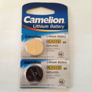 2x Camelion Lithium Knopfzelle CR2025 DL2025 5003LC E-CR2025
