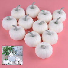 12pcs/set Halloween Harvest White Artificial Pumpkins Fall Thanksgiving Decor