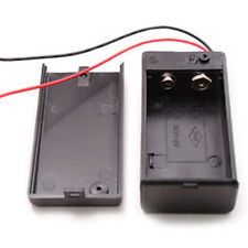 DC 9V PP3 Battery Holder Box Case Wire Lead ON/OFF Switch Cover + 2.1mm Plug