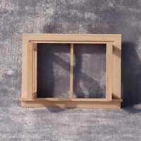 1:12 Miniatur Casement Puppenhaus Möbel Arbeiten Holzfenster Hausarbeiten