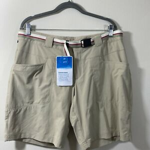 EASTERN MOUNTAIN SPORTS Women's Size 14 Belted Hiking Outdoorsy Shorts NWT
