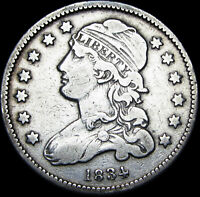 1834 Capped Bust Quarter Dollar   ---- NICE Type Coin  ---- #F885