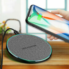 Qi Wireless Fast Charger Dock Mat Pad For iPhone 8 15W XS Note10 S10 9 X Sa V2J8