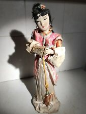 BEAUTIFUL VINTAGE SILK doll Japanese Geisha Large 15 pouces's with Lantern