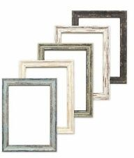 Vintage distressed wood effect/Camouflage Picture/Photo/Poster frame White/Black