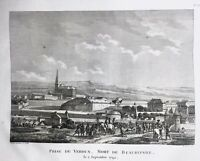 Verdun en 1792 Mort de Beaurepaire Rare Gravure Révolution Française