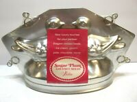 Wilton Sugar Plum Gourmet Food Mold Love Birds 3D Aluminum Party Wedding VTG NOS