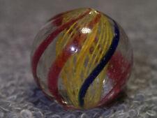 "23/32"" Mint Yellow Latticinio German Hand Made  - Marbles"