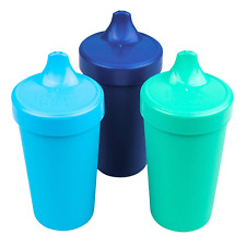 Re-Play Made in USA 3pk Toddler Feeding No Spill Sippy Cups for Baby, Toddler, -