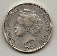 Alfonso XIII  5 pesetas  1893  PGL  **18/93       NL462