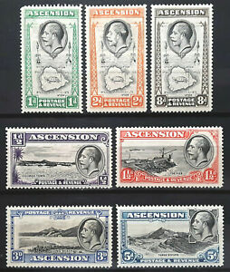 Ascension Stamp 1934 King George V Scott # 23-29 SG21-27 MINT H