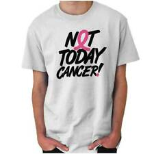 Not Today Cancer Breast Cancer Awareness Short Sleeve T-Shirt Tees Tshirts