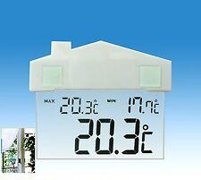 Termometro INTERNI ESTERNI CASA Digitale LCD Stazione Meteorologica Finestra Ventosa