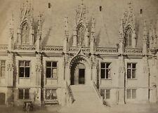 c1855 Bisson Frères Rouen Le Palais de Justice Large albumen print albumine TBE