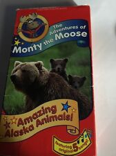 The Adventures of Monty the Moose-Amazing Alaska Animals (VHS,1995)5 Songs-RARE