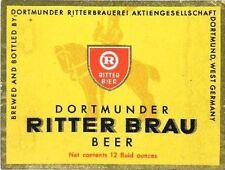 Dortmunder Ritter Brauerei Dortmund historische Aktie 1923 Brau + Brunnen Bier