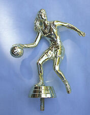 Female basketball action dribbler trophy parts lot of 10 Freeman 8652-1