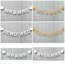 Large Wooden Garland Table Wall Wedding Banner Sign Hanging Heart Decoration