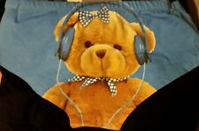 Wet Seal Panties TEDDY BEAR W/ HEAD PHONES Medium Size 6