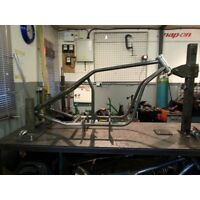 """Hard Up Choppers """"Outlaw"""" frame for oil cooled GSXR/Bandit"""