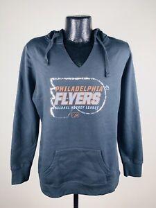 Women's Majestic Philadelphia Flyers Attacking Line Black Cotton Sweatshirt S