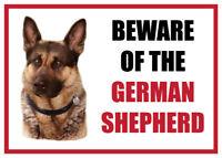 Funny Beware of the GERMAN SHEPHERD Dog Vinyl Car Van Decal Sticker Pet Lover