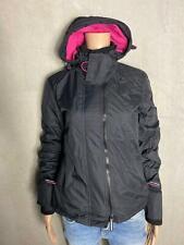 Superdry Jacket Arctic Hooded Pop Zip Black - New SIZE S 36 2887d