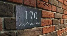 Personalised Natural Slate House Home Name Gate Number Sign 30cm x 15cm Plaque
